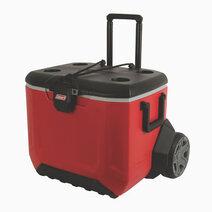 Re coleman 50 quart raptor wheel cooler   red 1
