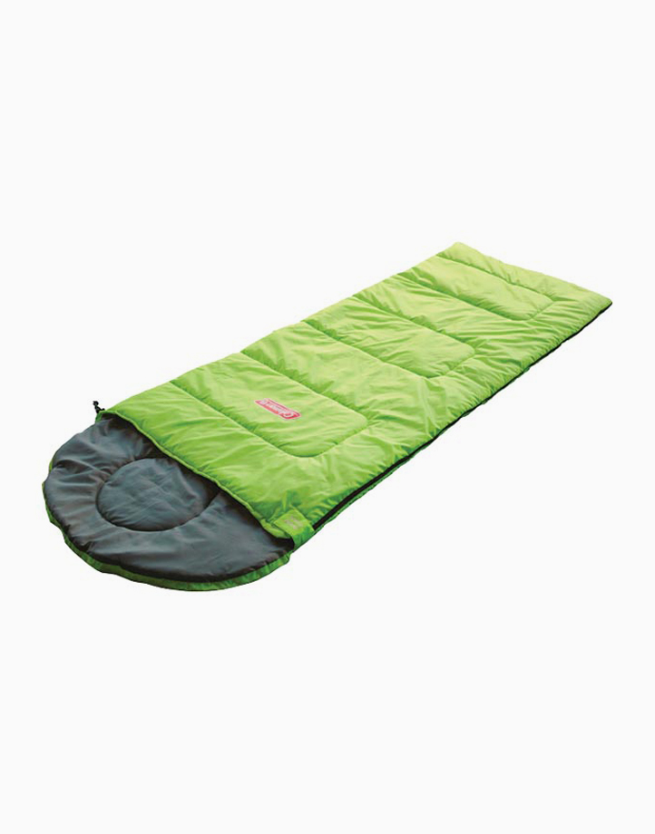 Go! 25°C Hooded, Mummy Style Sleeping Bag by Coleman | Green