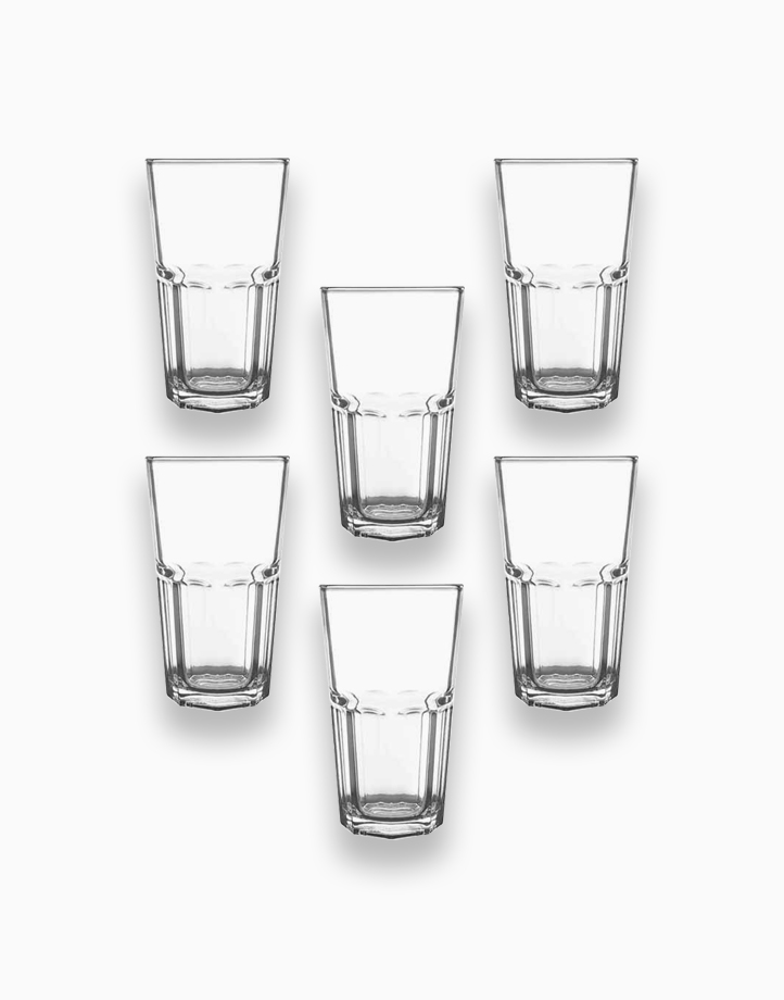 Thailand Premium Clear Rock Glass - 420ml (Set of 6) by Sunbeams Lifestyle