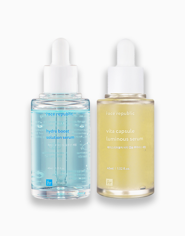 Daytime Hydrating and Night Radiating Serum Set by Face Republic