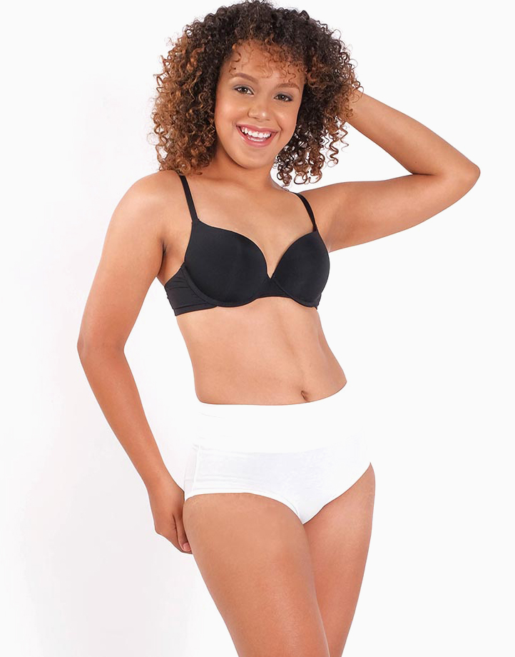 Belly Bikinis in White (Set of 3 High Rise Control Panties) by Jellyfit |