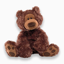"Philbin Chocolate Bear 12"" Soft Plush Toy by Gund"
