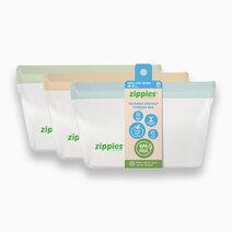 Color Linen Dreams Standup Reusable Bags (Medium, 3s) by Zippies