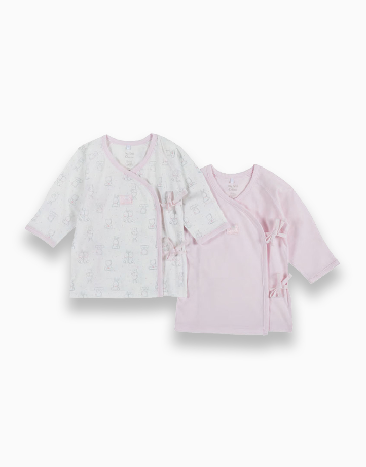 Newborn Tie Sides Tees for Girls - Set of 2 by Chicco | 6 MONTHS
