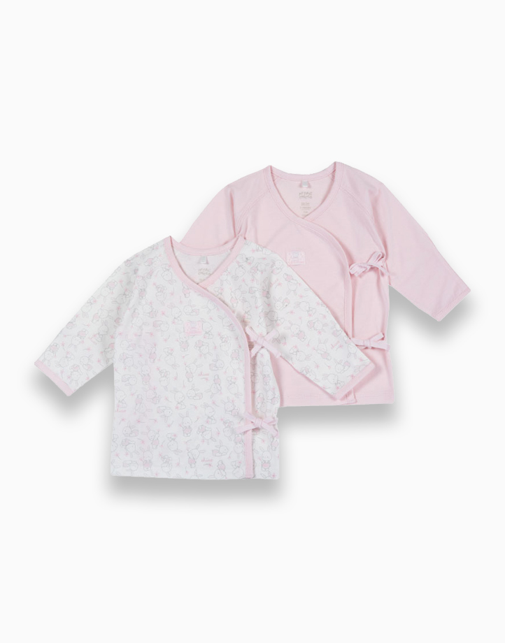 Pink Newborn Tie Sides Tees - Set of 2 by Chicco | 3 MONTHS