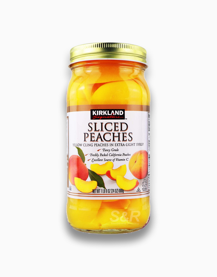 Sliced Peaches Yellow Cling Peaches in Extra-Light Syrup (680g) by Kirkland