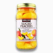 Re sliced peaches yellow cling peaches in extra light syrup %28680g%29