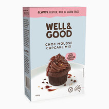 Choc Mousse Cupcake Mix (475g) by Well & Good
