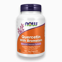 Quercetin with Bromelain Vegetable Capsules by NOW