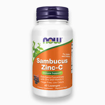 Sambucus Zinc-C Elderberry Concentrate with Zinc and Vitamin C Lozenges (For Adults and Children) by NOW
