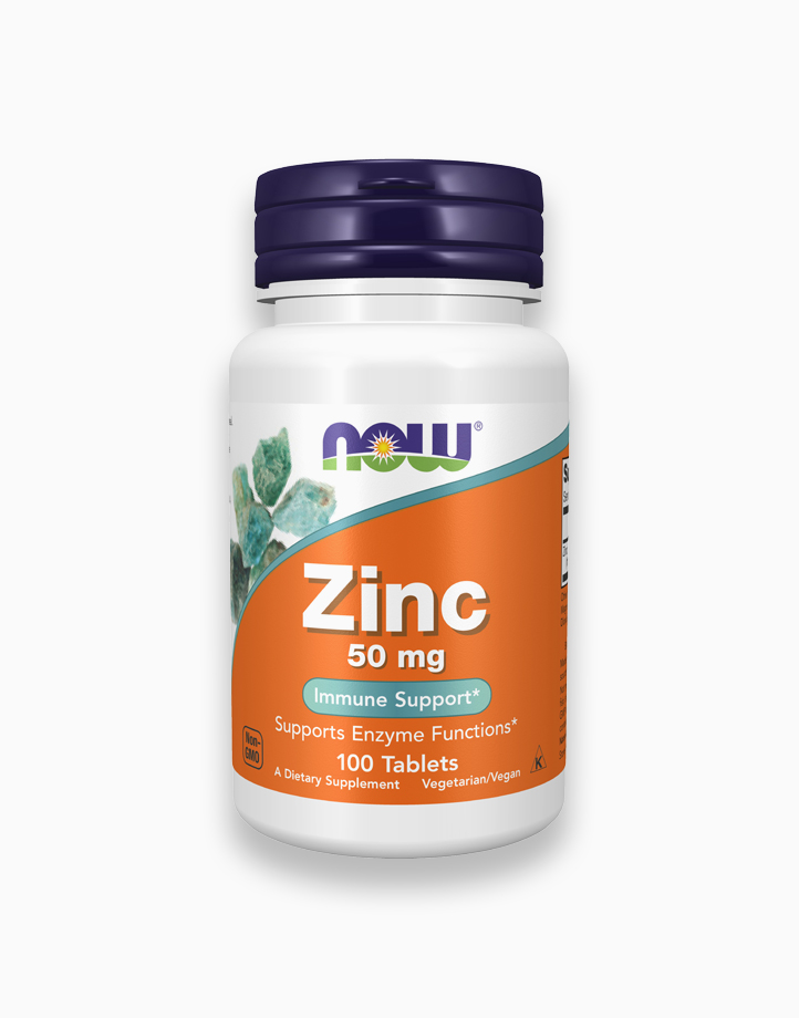 Zinc 50mg Tablets by NOW