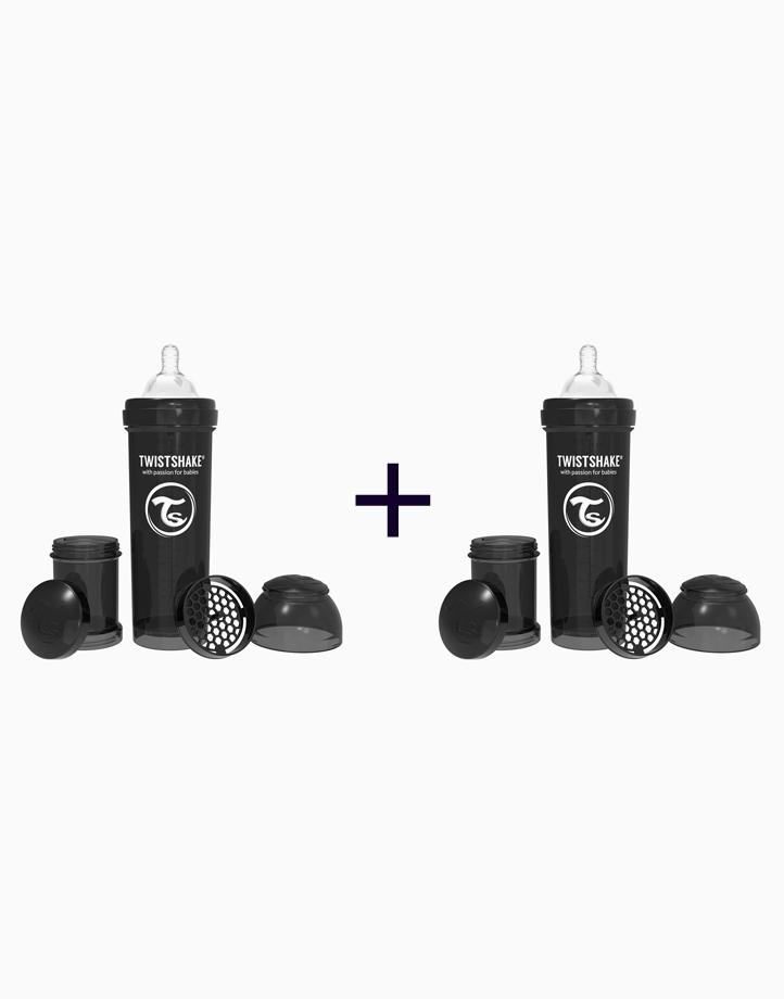 Anti-Colic Baby Bottle (330ml/11oz.) (Buy 1, Take 1) by Twistshake of Sweden   Black