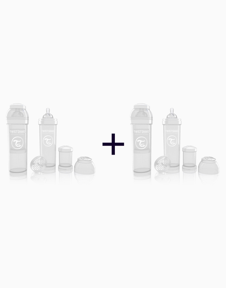Anti-Colic Baby Bottle (330ml/11oz.) (Buy 1, Take 1) by Twistshake of Sweden   White