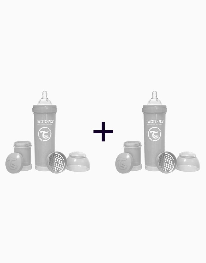 Anti-Colic Baby Bottle (330ml/11oz.) (Buy 1, Take 1) by Twistshake of Sweden   Pastel Grey