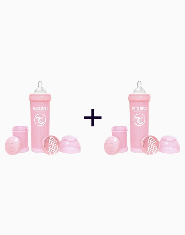 Anti-Colic Baby Bottle (330ml/11oz.) (Buy 1, Take 1) by Twistshake of Sweden   Pastel Pink