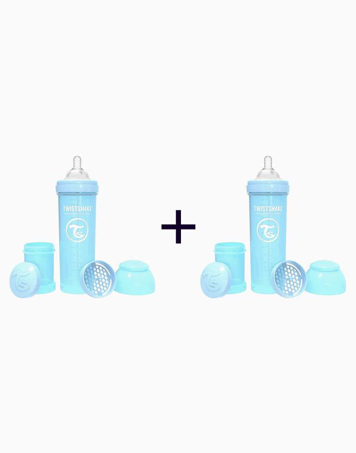 Anti-Colic Baby Bottle (330ml/11oz.) (Buy 1, Take 1) by Twistshake of Sweden   Pastel Blue