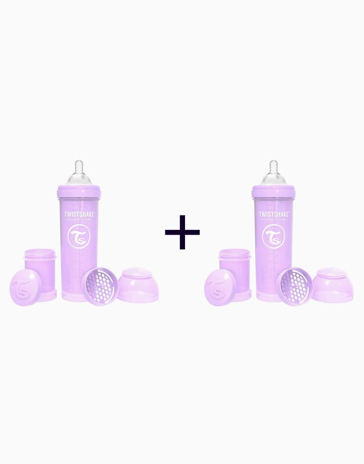 Anti-Colic Baby Bottle (330ml/11oz.) (Buy 1, Take 1) by Twistshake of Sweden   Pastel Purple