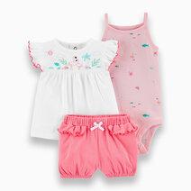 3-Piece Flamingo Little Short Set by Carter's