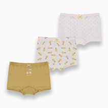 Perry 3-Pack Boyshorts for Girls by Meet My Feet