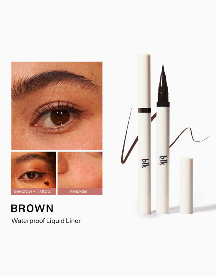 Waterproof Liquid Liner by BLK Cosmetics | Brown