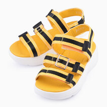 Pretoria Sandals for Girls - Yellow/Black by Meet My Feet