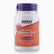 Now Foods, High Potency Vitamin D-3, 125 mcg (5,000 IU), 120 Softgels by NOW