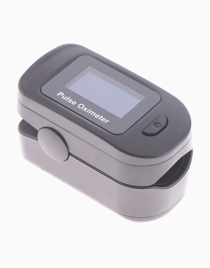 Prohealthcare Pulse Oximeter (Black) with Silicone Case, Lanyard, Pouch & Batteries by VMed