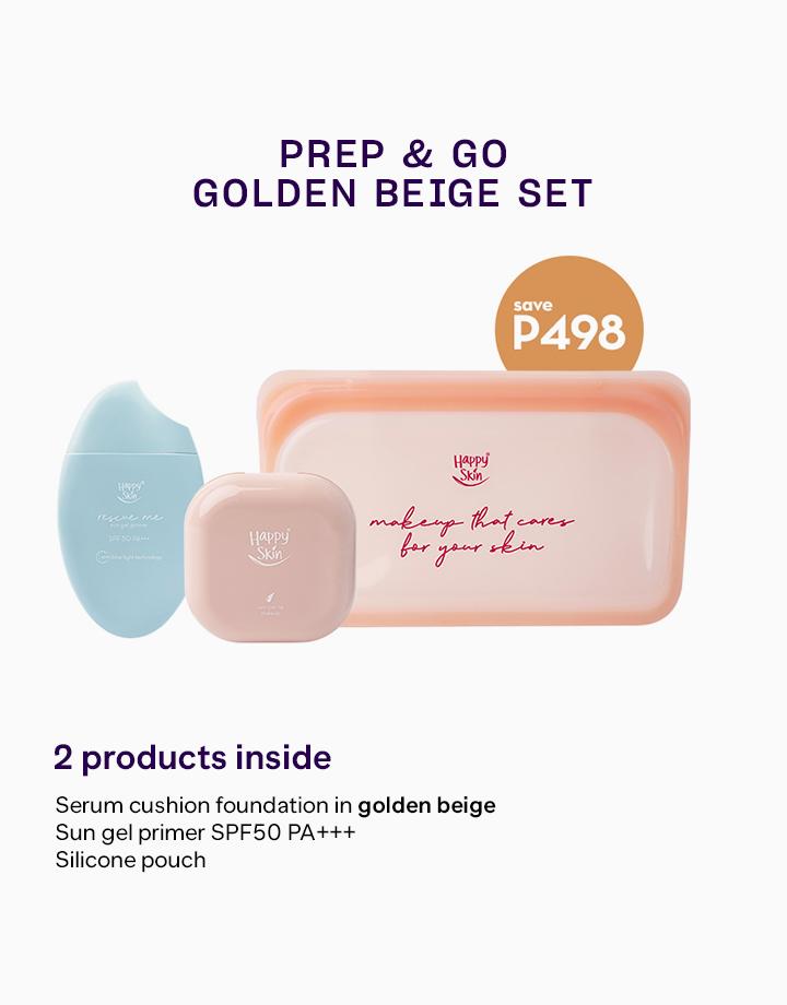 Prep & Go Set by Happy Skin   Golden Beige