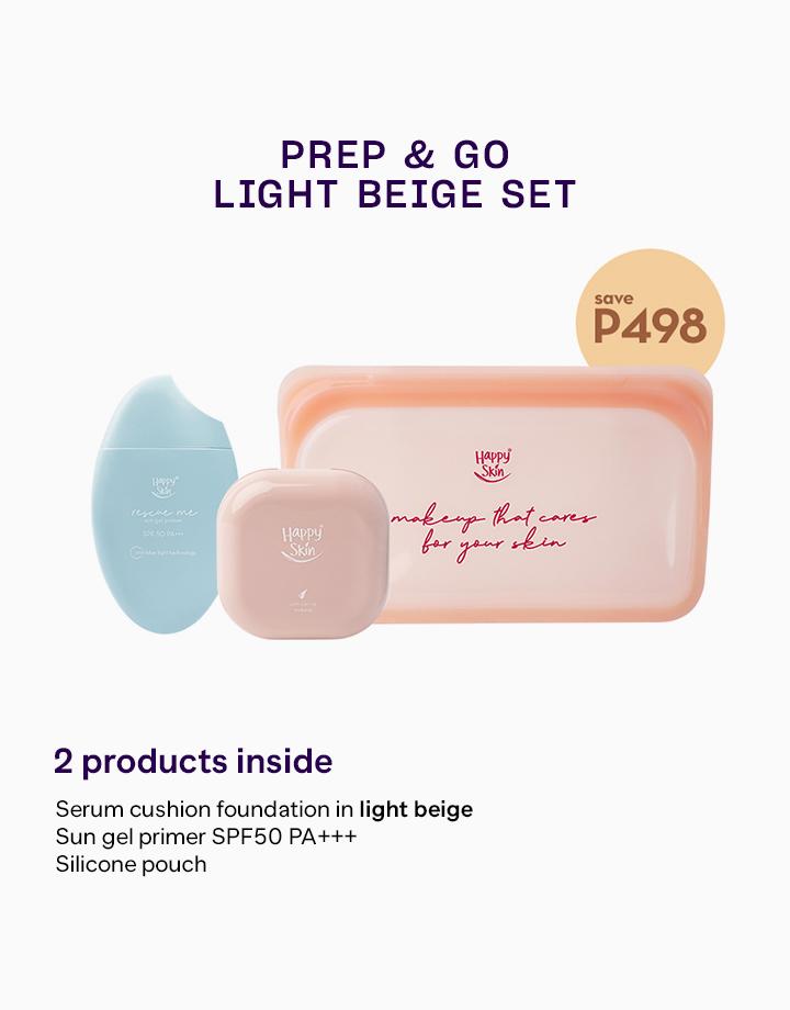 Prep & Go Set by Happy Skin   Light Beige