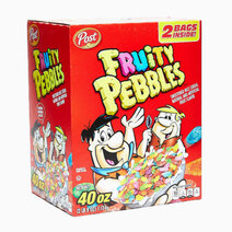 Re fruity pebbles sweetened rice cereal natural and articificial fruit flavor %282lbs%29   2 bags