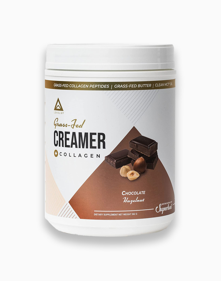 Grass Fed Keto Creamer with Collagen Chocolate Hazelnut (30 Servings) by LevelUp Nutra
