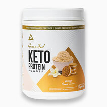 Grass Fed Keto Protein w/ Collagen Vanilla (24 Servings) by LevelUp Nutra