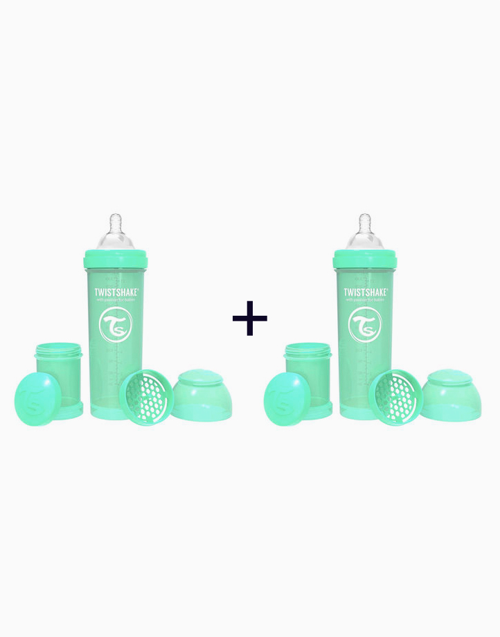 Anti-Colic Baby Bottle (330ml/11oz.) (Buy 1, Take 1) by Twistshake of Sweden   Pastel Green