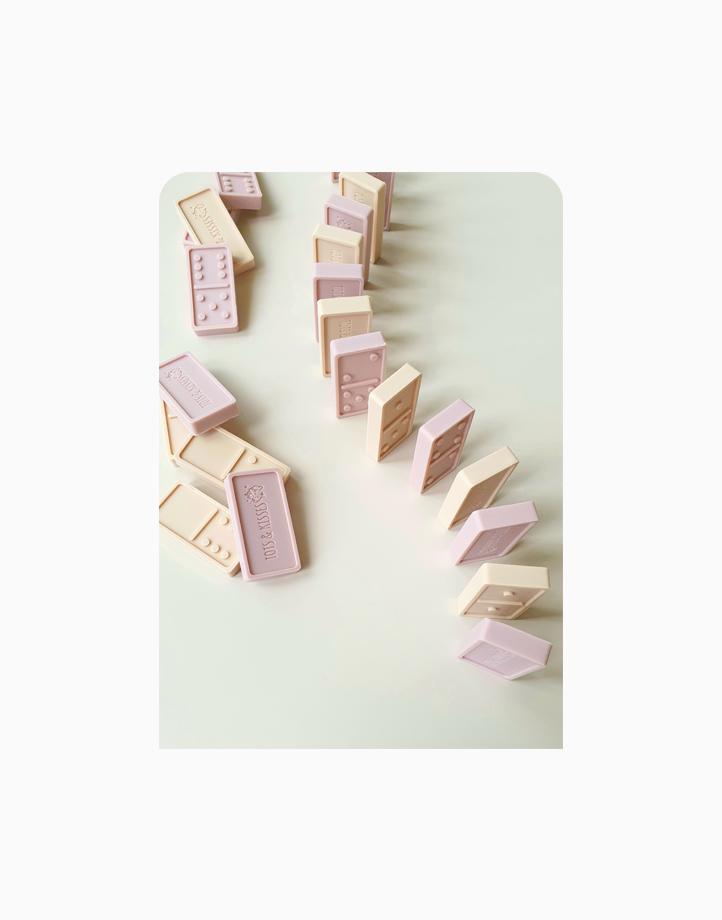 Sili Domino Set by Tots & Kisses   Rose Mix