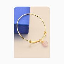 Raw rose quartz healing crystal bangle bracelet 3