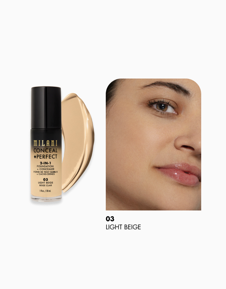 Conceal + Perfect 2-in-1 Foundation + Concealer by Milani | Light Beige