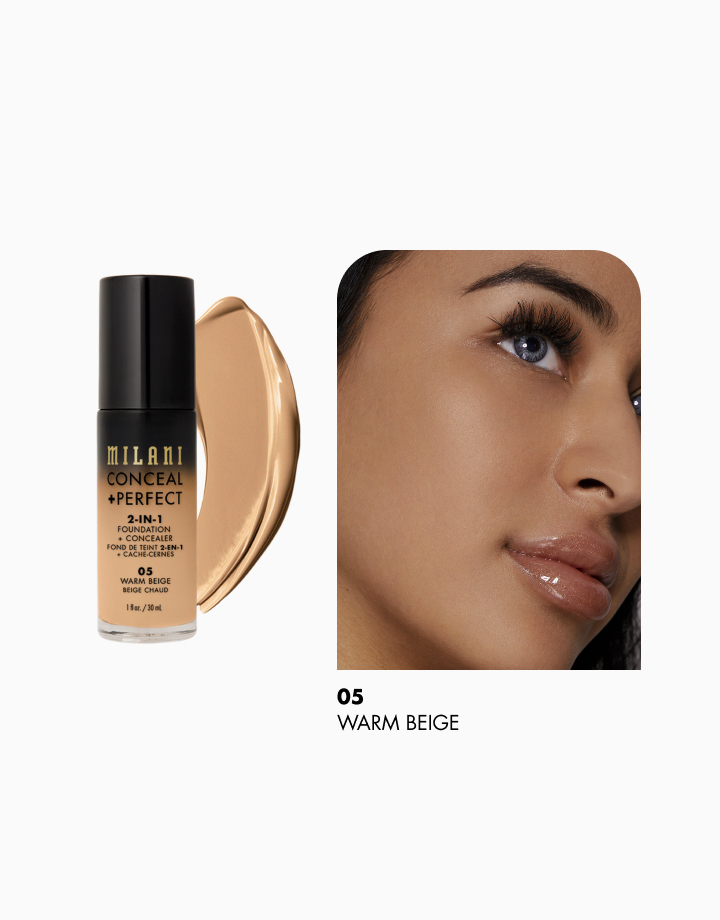 Conceal + Perfect 2-in-1 Foundation + Concealer by Milani | Warm Beige
