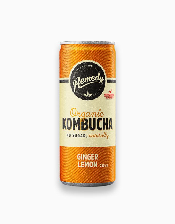 Organic Kombucha Ginger Lemon Flavor (250ml) by Remedy Kombucha