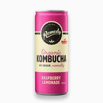 Organic Kombucha Raspberry Lemonade 250ml by Remedy Kombucha