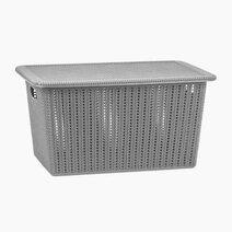 Re knit basket with lid %2820l%29