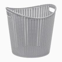 Re multi purpose knit laundry basket   35l  38.5x30.8x36.5cm