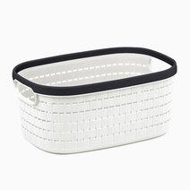 Re multi purpose knit rattan storage basket  18l  43.5x30.5x16.5cm