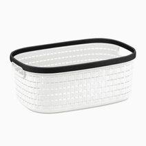 Re multi purpose knit rattan storage basket   12l  36.5x26x15cm