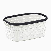 Re multi purpose knit rattan storage basket   6.5l  30.3x20x13.5cm