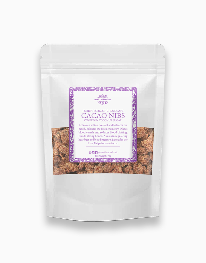 Raw Cacao Nibs coated in Coconut Sugar (70g) by Manila Superfoods