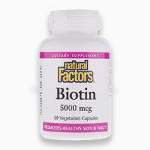 Biotin 5,000mcg (60 Veg Caps) by Natural Factors