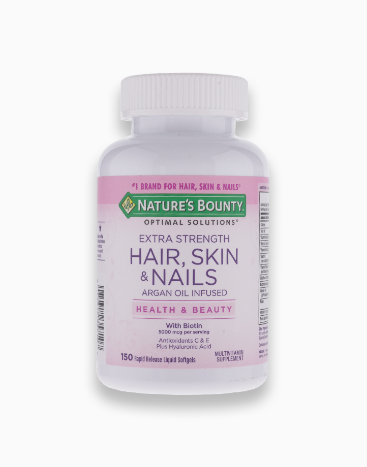 Extra Strength Hair, Skin & Nails Argan Oil Infused with Biotin (150 Softgels) by Nature's Bounty