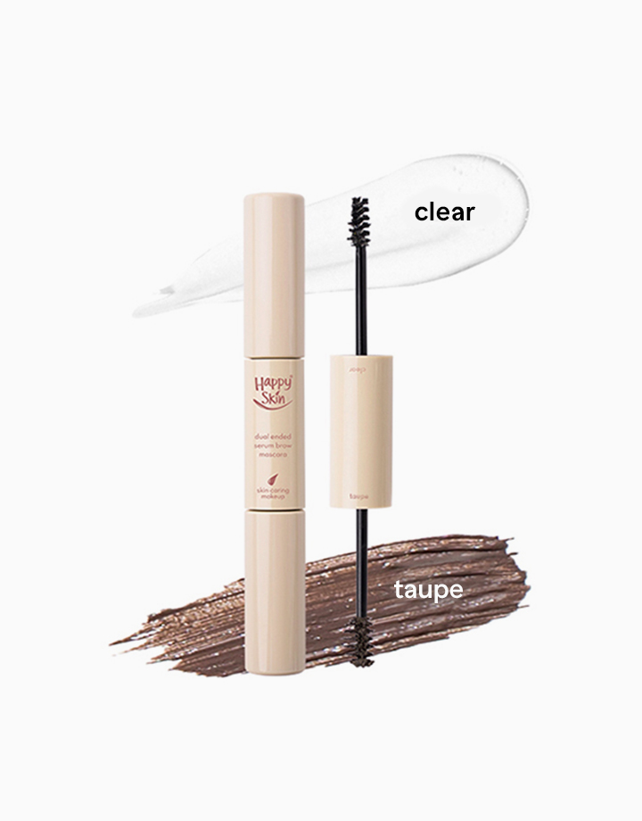 Second Skin Dual-Ended Serum Brow Mascara by Happy Skin   Taupe