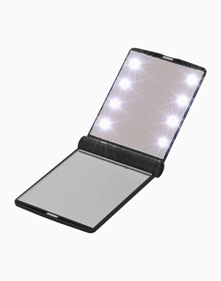 Pocket Makeup LED Light Mirror by Honest Tools | Black
