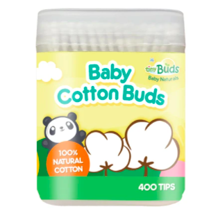 Mini Baby Cotton Buds (400 Tips) by Tiny Buds
